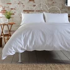 deyongs inventory seersucker duvet cover set double white
