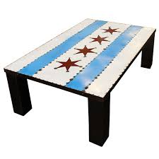 Chicaho Flag Chicago Flag Coffee Table