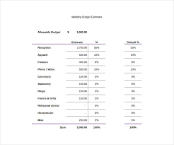 14 wedding budget templates free pdf doc xls format download