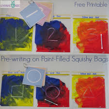 primary colours squishy bag experiment learning 4 kids