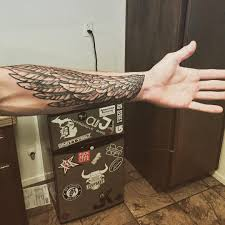 wing forearm sleeve tattoo ink pinterest forearm sleeve