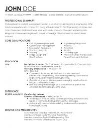 internship resume template professional civil engineer intern templates to showcase your
