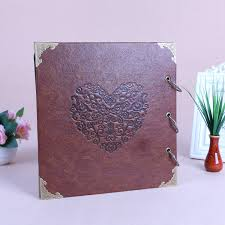 Leather Scrapbook Albums Aliexpress Com Buy Personalized Leather Wedding Photo Album 16