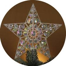 lighted tree topper lighted iridescent christmas tree topper christmas and city