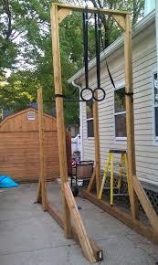 backyard pull up bar ring set could add a 15 u0027 climb too