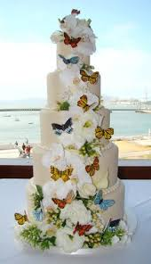 butterfly wedding cake blue butterfly wedding cake like cinderella s shoes and dress