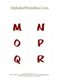 alphabet flash cards pdf template uppercase red alphabet
