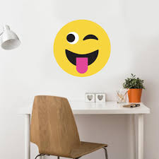 emoji wall decal 2 ft large emoji decal frowny face smiley face 24