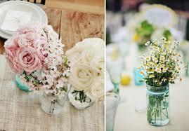 Mason Jar Ideas For Weddings Burlap And Lace Mason Jar Wedding Centerpieces Top Burlap And