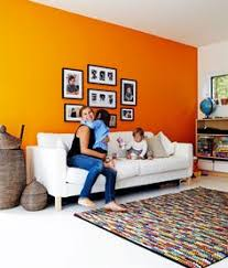 Interior Design Color Schemes by Love The Tangerine With The Black And Grey And Doesn U0027t Look At All