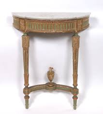 Wall Console Table Louis Xvi Wall Mounted Demilune Console Table Ca 18th