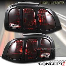 1994 mustang tail lights for 1994 1998 ford mustang v6 gt tail lights black housing red lens