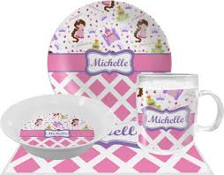 personalized dinnerware princess diamond print dinner set 4 pc personalized potty