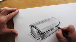how to draw product design sketching bluetooth speaker design
