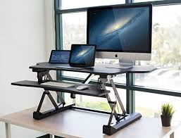motorized sit stand desk mount it electric home office desks standing converter 48 wide