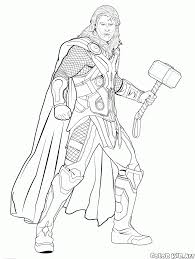 coloring page thor lord of lightning