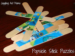 popsicle stick puzzles juggling act mama