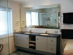 large frameless bathroom mirror mirrors contemporary chimps page