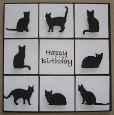 card cut with impression obsession die cut die083 k cats