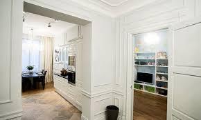 Parisian Interior Apartment Decoration With White Wall Paint Part - European apartment design