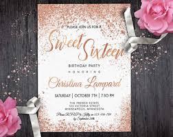 sweet 16 invitations sweet 16 invitation etsy