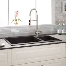 granite kitchen sinks uk other kitchen double bowl undermount black granite composite