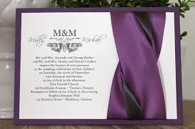 wedding invitations toronto wedding invitation 1104 purple pearl smooth