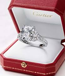wedding ring in a box cartier sophisticated paved solitaire platinum engagement ring
