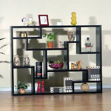 living room free standing black wooden living room shelf unit on