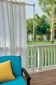 Hanging Pictures by How To Hang Outdoor Curtains Improvements Blog