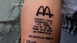 you got a tattoo of a mcdonald u0027s receipt video business news