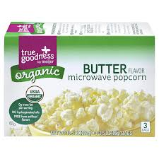 Meijer Home Decor True Goodness Organic Microwave Popcorn Butter Flavor 3 Bags