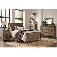 Rustic Casual Contemporary  Piece Queen Bedroom Set Trinell - Bedroom sets at rc willey