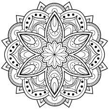 easy mandala coloring pages printable eliolera