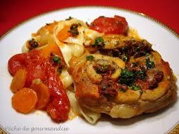 cuisiner jarret de veau jarret de veau aux tomates séchées péché de gourmandise