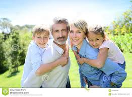 happy family garden happy family in the garden having fun stock photo image 53702830