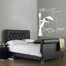 dance in the rain wall stickers decals white dance in the rain wall sticker in a bedroom