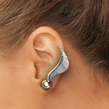 ear climber earring sterling silver ear climber earrings harry potter earrings golden