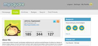 design a foursquare like user profile page in html5 css3