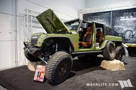jeep truck 2017 2017 sema fox bds jks bruiser 6x6 jeep pickup truck
