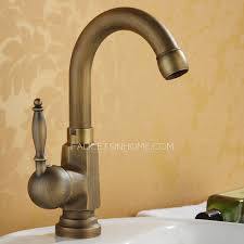 Antique Bronze Stick Side Handle Single Hole Bathroom Brushed Faucets Antique Bronze Bathroom Fixtures