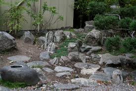 small dining area small japanese rock garden design small