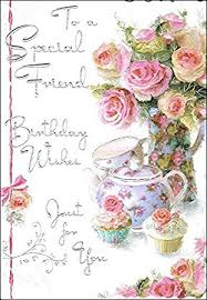 birthday cards jonny javelin special friend birthday card jj8429 roses cupcakes