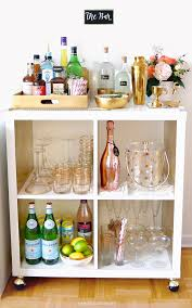 bar cart essentials home bar haul u2022 sara du jour home