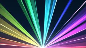rotating light beams animation loop rainbow stock footage