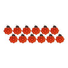 giftbay 030 s 12 orange flower glass christmas tree ornament set of 12