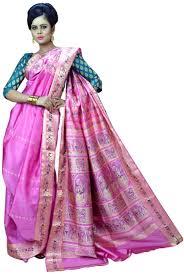 Pink Colour by Beautiful Pink Colour Bengali Wedding Silk Saree Online Shopping