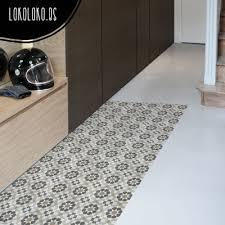 decorative vinyl for floor of hydraulic tiles imitation