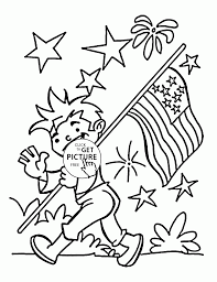 happy fourth of july coloring page for kids coloring pages