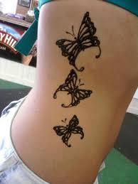 side butterfly henna by punxgirl on deviantart
